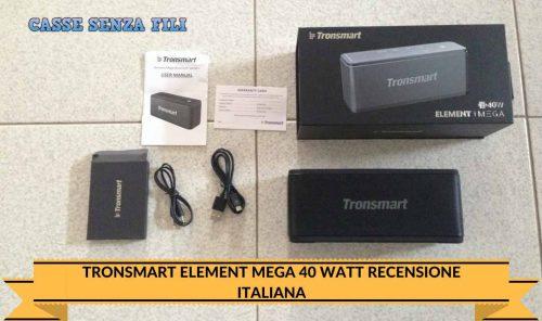 Tronsmart Element Mega 40 Watt Recensione Italiana
