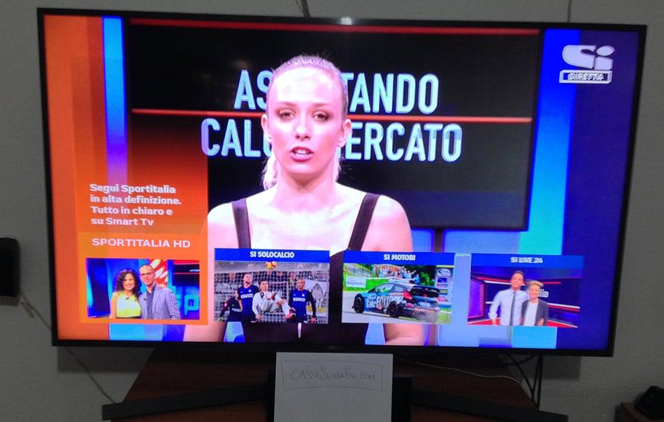 Smart Tv Samsung Esempio SportItalia