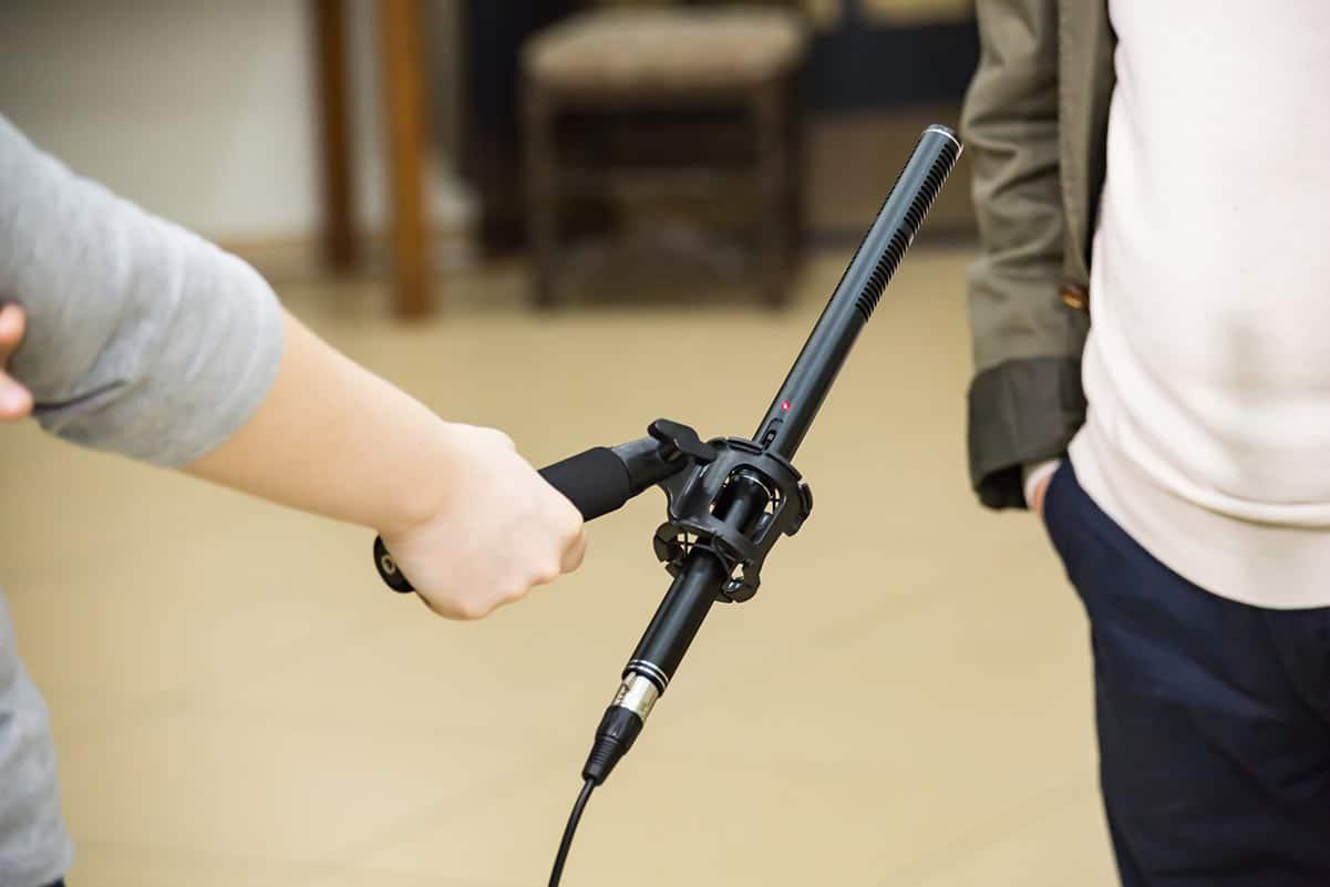 microfono shotgun per interviste